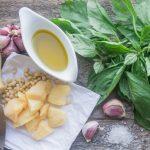 Helthy pesto ingredients