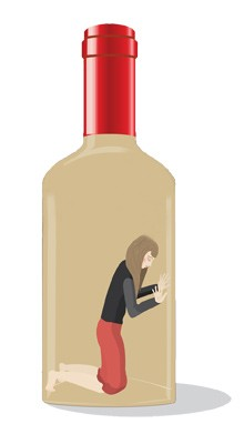 mom stuck in wine bottle