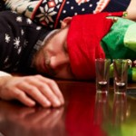 drunk man passed out during holidays