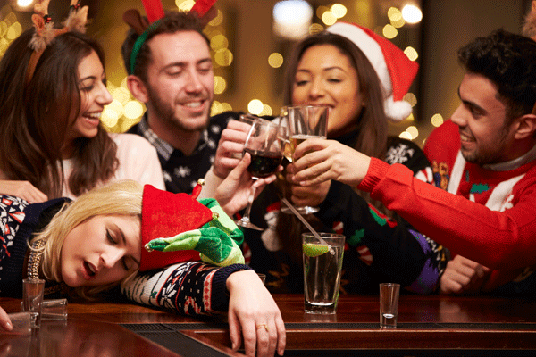 staying sober during christmas