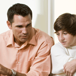 father talking to son about marijuana