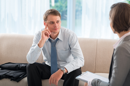 man seeking individual therapy for addiction