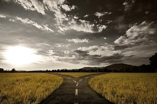 crossroads symbolizing H.A.L.T. theory