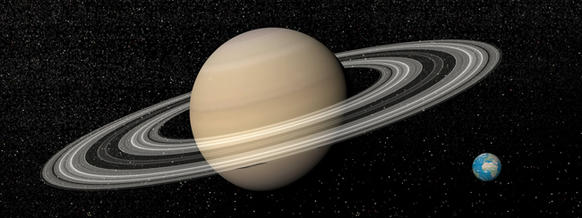 image of saturn and earth symbolizing awe and recovery