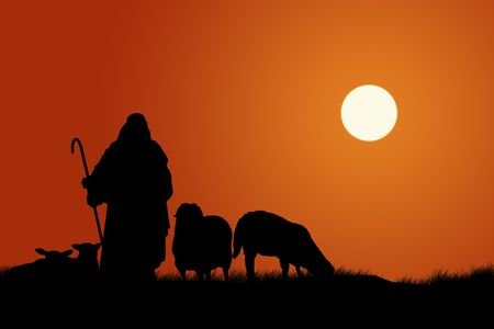 image of shepherd to symbolize self-guidance in alcohol recovery