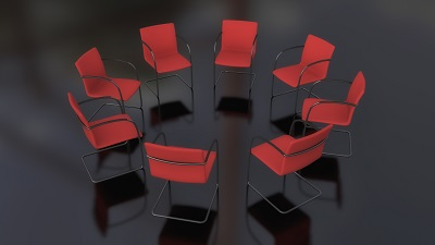 image of circle of chairs at a smart meeting