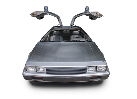 image of back to future car to symbolize prediction of the future of rehab