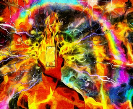psychedelic image to symbolize ibogaine treatment experience