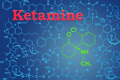 image of ketamine molecule