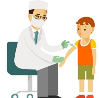 image of doctor giving child a shot to show drugs are good