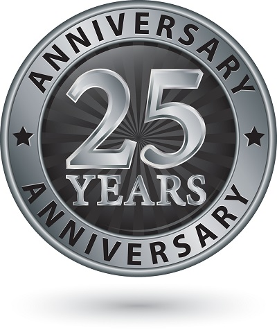 image of anniversary seal for celebration of smart recovery 25 years