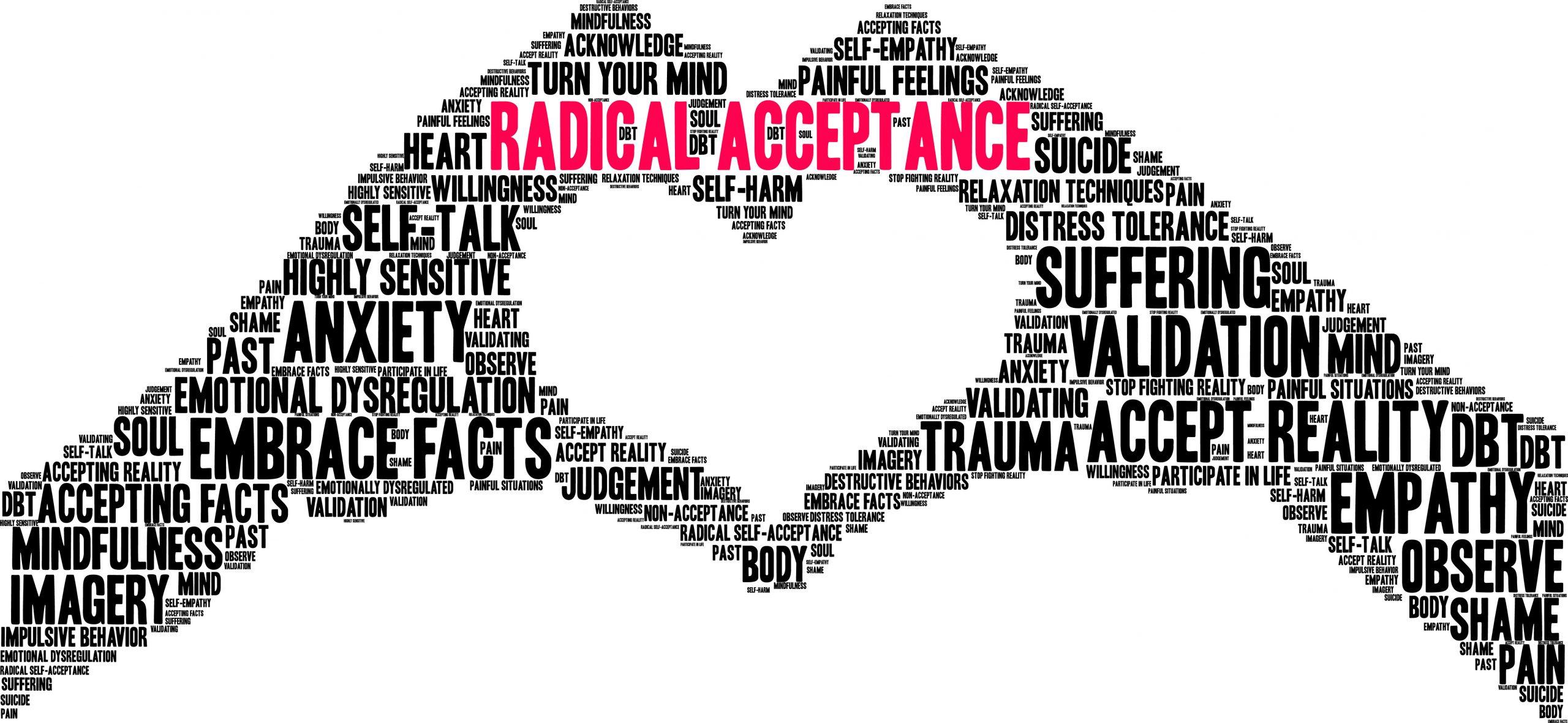 Radical Acceptance tolerating distress through DBT