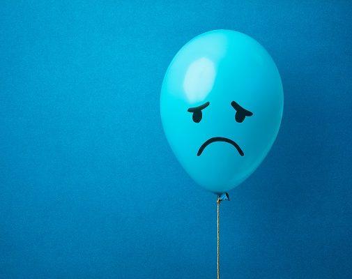 image of sad face to represent managing discomfort