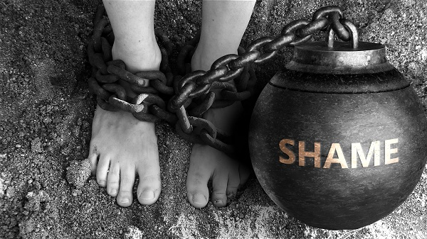 image of ball and chain to symbolize understanding shame as a weight